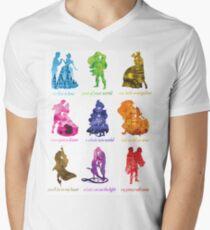 Camiseta de cuello en V Todos somos princesas