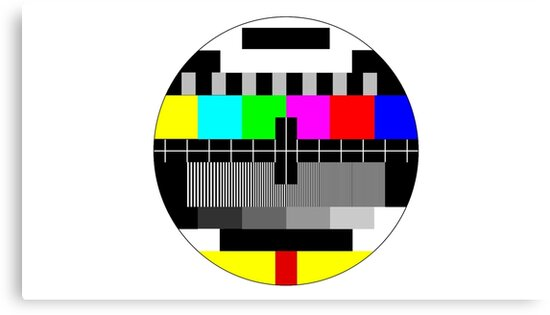 60's TV Test Pattern Canvas Prints By Enji60 Redbubble Cool Test Pattern