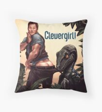 Clever Girl! Throw Pillow