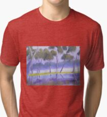 Red River Gums on the mashlands of the Murray River Tri-blend T-Shirt
