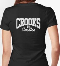 crooked castles  Womens Fitted T-Shirt