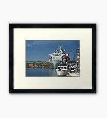 RFA Argus at Falmouth Docks Framed Print