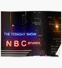 The Tonight Show at Rockefeller Center Poster