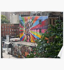 The Colours of the High Line, by Eduardo Kobra Poster