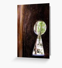 Forest Door Greeting Card