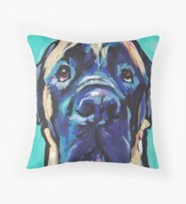 English Mastiff Bright colorful pop dog art Throw Pillow