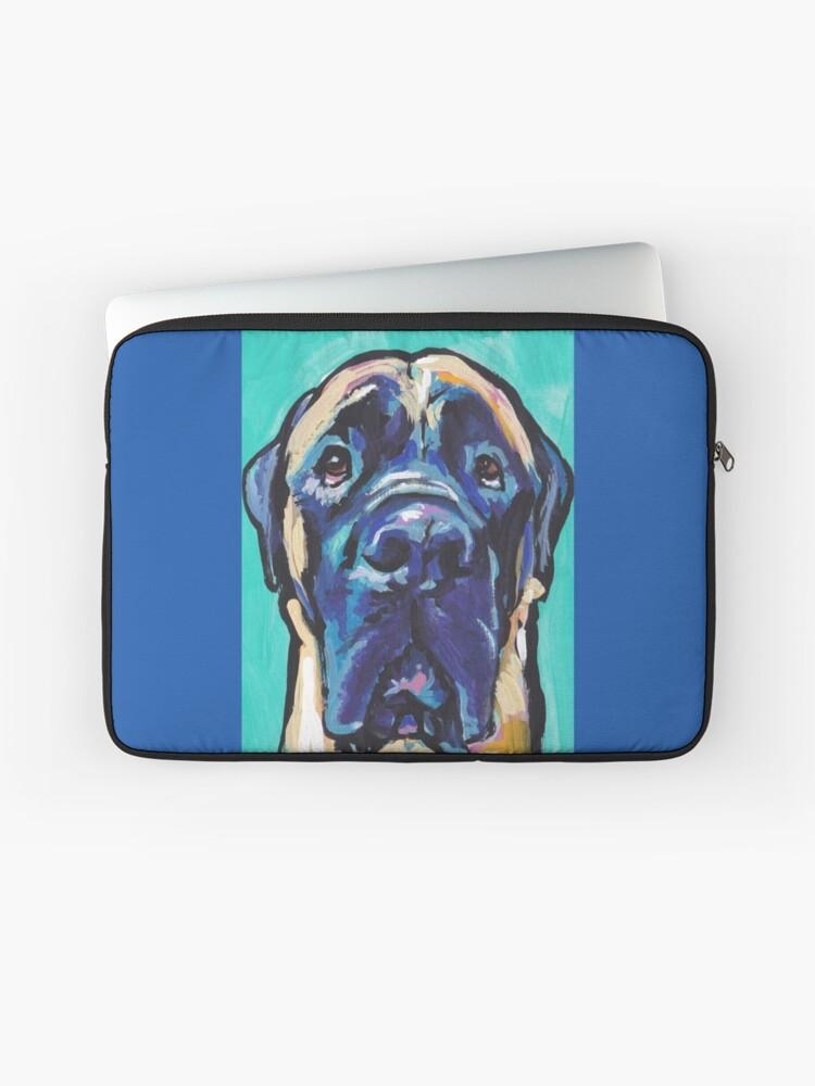 English Mastiff Bright colorful pop dog art | Laptop Sleeve