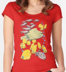 Different fish Women's Fitted Scoop T-Shirt