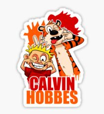 Calvin and Hobbes Time Sticker