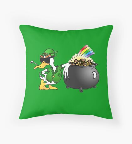 St. Patty's Day Duck Throw Pillow