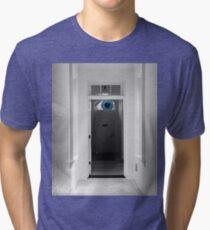 Peeking in the door Tri-blend T-Shirt
