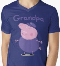 grandpa pig Men's V-Neck T-Shirt