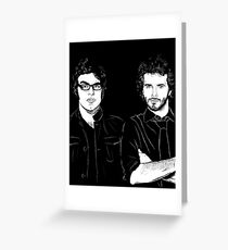 Bret? Present. Jemaine? Present. Greeting Card
