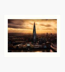 London from the Sky Garden Art Print