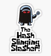 The Hash Slinging Slasher! (Black Text) - Spongebob Sticker