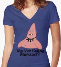 Who You Calling Pinhead? - Spongebob Women's Fitted V-Neck T-Shirt
