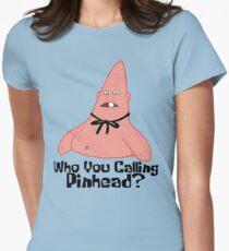 Who You Calling Pinhead? - Spongebob Women's Fitted T-Shirt