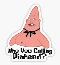 Who You Calling Pinhead? - Spongebob Sticker