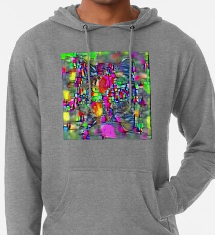 Artificial neural style Cubism mirror cat Lightweight Hoodie