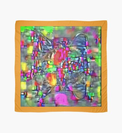 Artificial neural style Cubism mirror cat Scarf