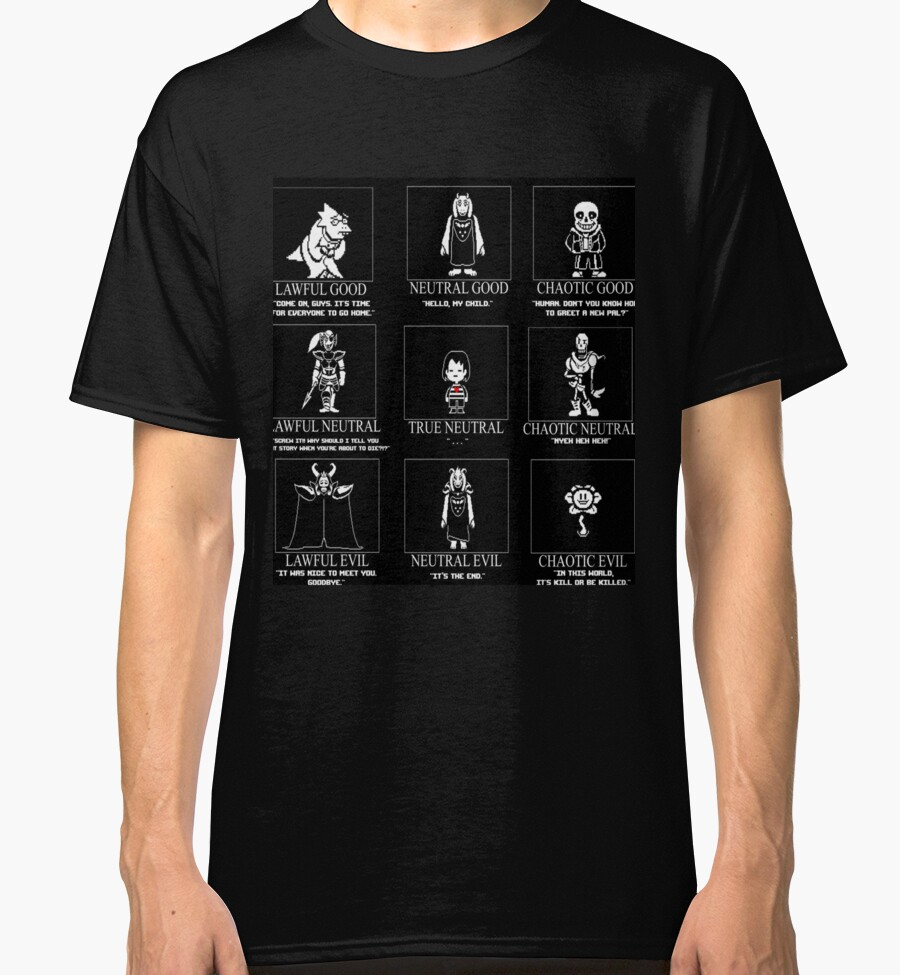 Quot Undertale X Dungeons Dragons Quot Classic T Shirts By