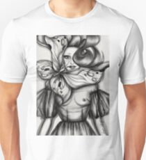 Girl with Butterfly Unisex T-Shirt