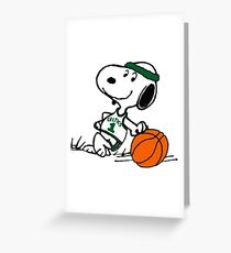 Snoopy basketball Greeting Card