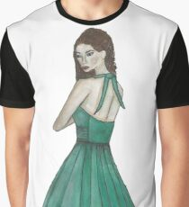 Green Dress Figure Graphic T-Shirt