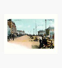 1900 Brighton East Sussex Entrance to West Pier Art Print