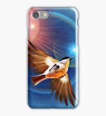 Bird in the rays of light iPhone Case/Skin