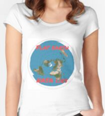Flat earth reality nasa lies Women's Fitted Scoop T-Shirt