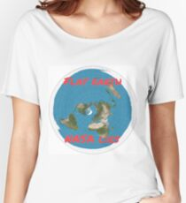 Flat earth reality nasa lies Women's Relaxed Fit T-Shirt