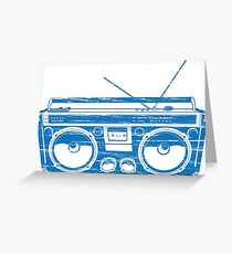 radio child of the eighties 1980 back to the future Greeting Card