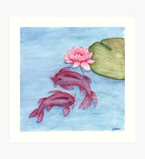 Koi Watercolor Art Print