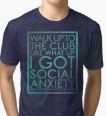 For the basement dwellers! Tri-blend T-Shirt