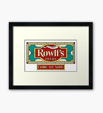 """Rowlf's Tavern """"Come. Sit. Stay."""" Framed Print"""