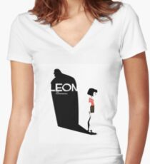 Léon the professional  Women's Fitted V-Neck T-Shirt