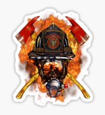 Firefighter The Anonymous Heroes Novelty Gifts. Sticker