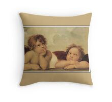 Angels (cherubs) dreaming, by Raphael Throw Pillow