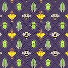 Insecta Geometrica - Geometric Insects Pattern by Mary Capaldi