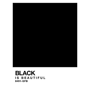 Black is beautiful - Pantone Swatch by glutenfreebae