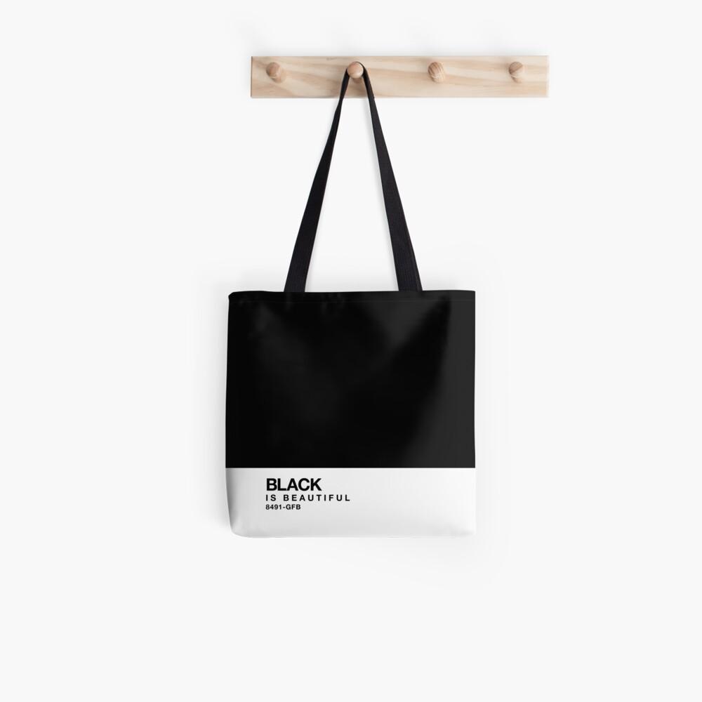 Schwarz ist schön - Pantone Swatch Tote Bag