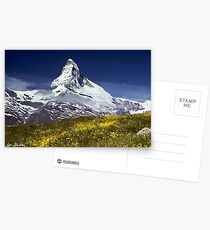 The Matterhorn with Alpine Meadow in Foreground Postcards