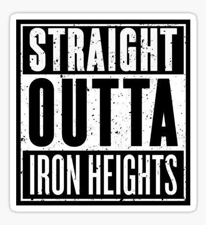 Straight Outta Iron Heights Sticker