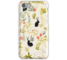 black rabbits  iPhone Case/Skin