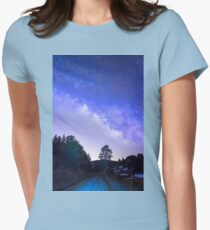 Night Driver Womens Fitted T-Shirt
