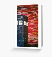 Dr. Who TARDIS Greeting Card