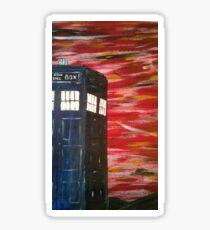 Dr. Who TARDIS Sticker
