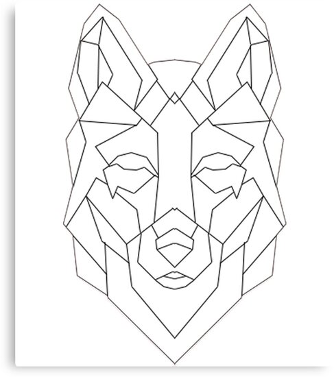 """Geometric Wolf"" Canvas Prints by HarveyParker 