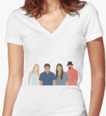 Dexter Women's Fitted V-Neck T-Shirt
